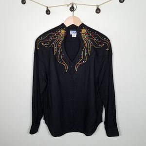 RARE Vintage 60's Wrangler Western Embellished Top